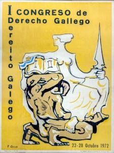 1972 CARTEL I CONGRESO DERECHO GALLEGO