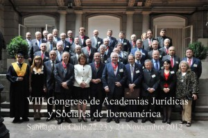 2012  VIII CONGRESO ACADEMIAS IBEROAMERICANAS - CHILE noviembre 2012